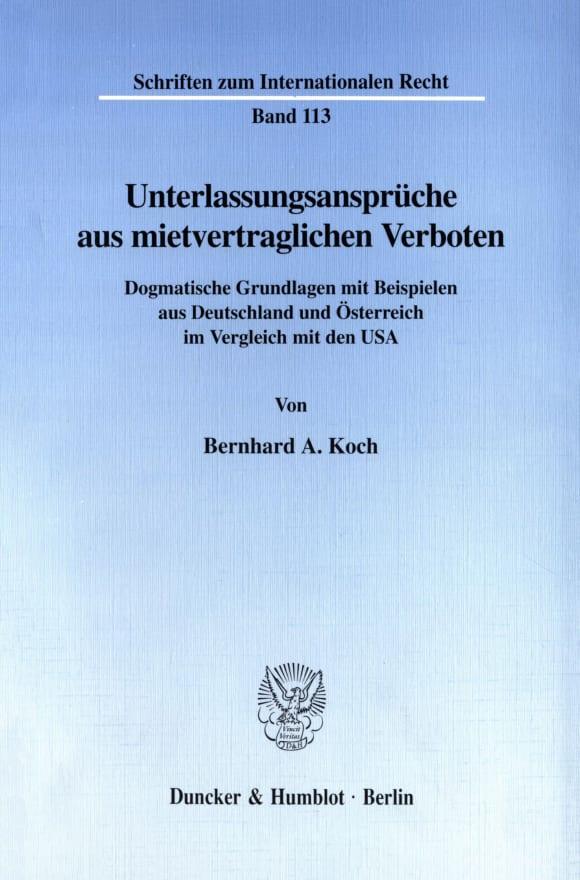 Cover Unterlassungsansprüche aus mietvertraglichen Verboten