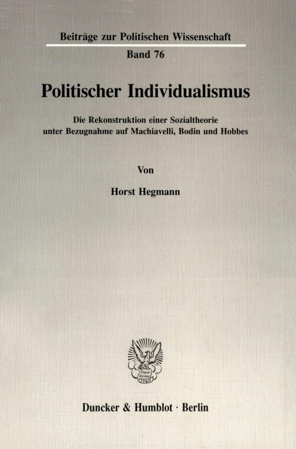 Cover Politischer Individualismus