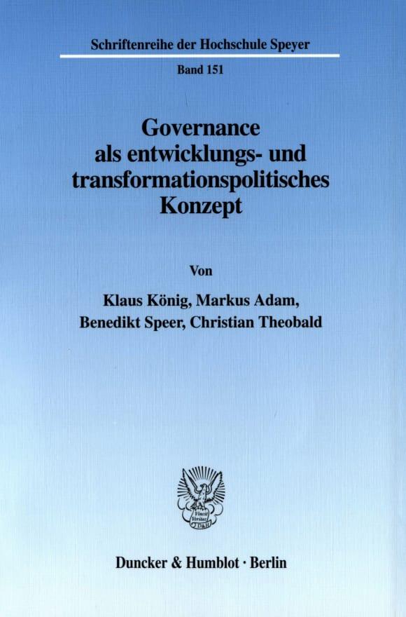 Cover Governance als entwicklungs- und transformationspolitisches Konzept