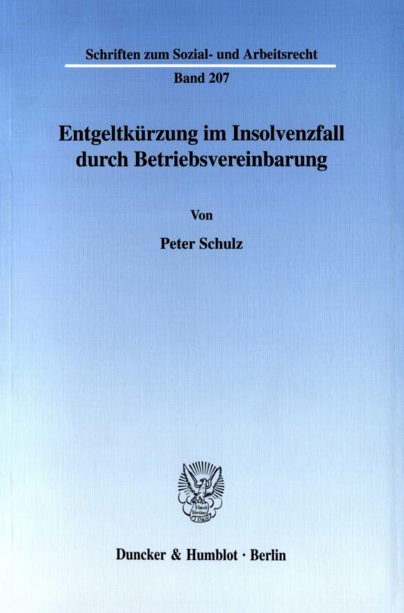 Cover Entgeltkürzung im Insolvenzfall durch Betriebsvereinbarung