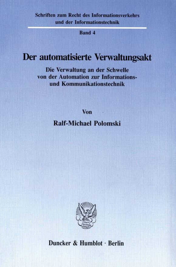 Cover Der automatisierte Verwaltungsakt