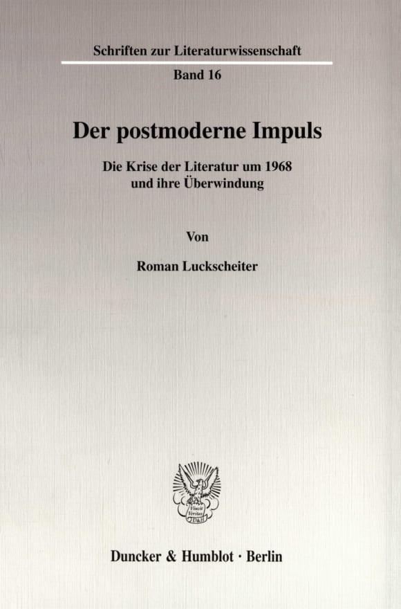 Cover Der postmoderne Impuls