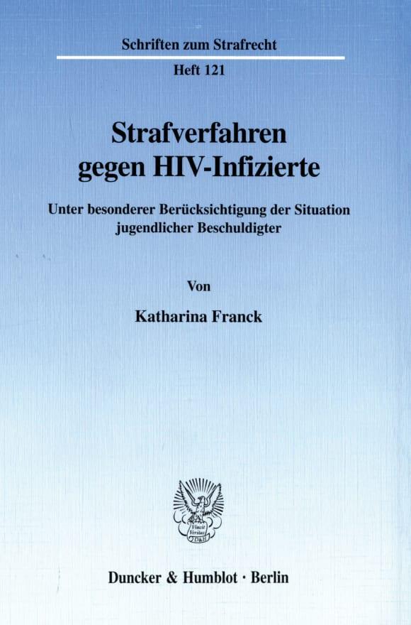 Cover Strafverfahren gegen HIV-Infizierte