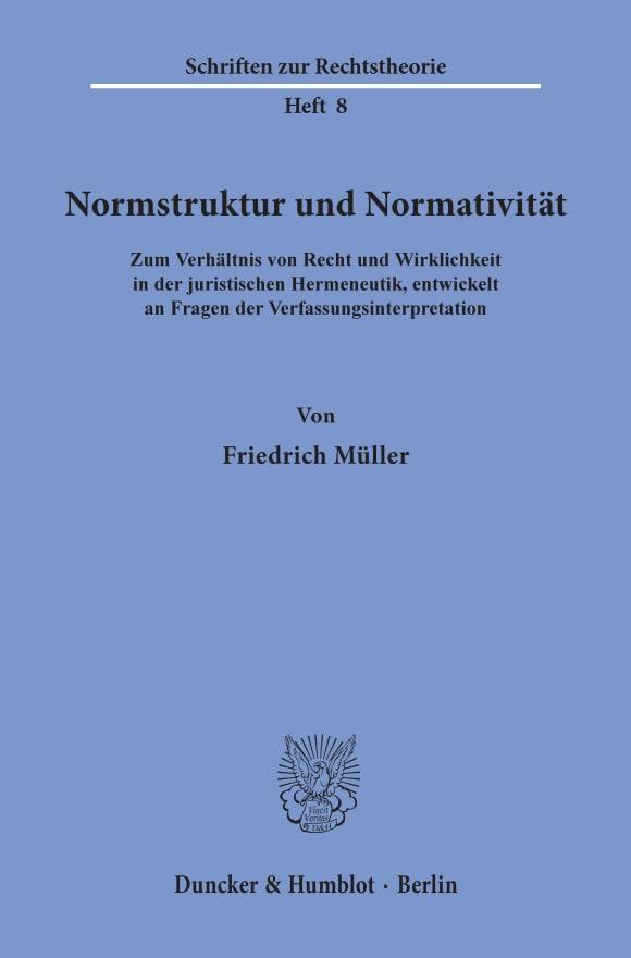 Cover Normstruktur und Normativität
