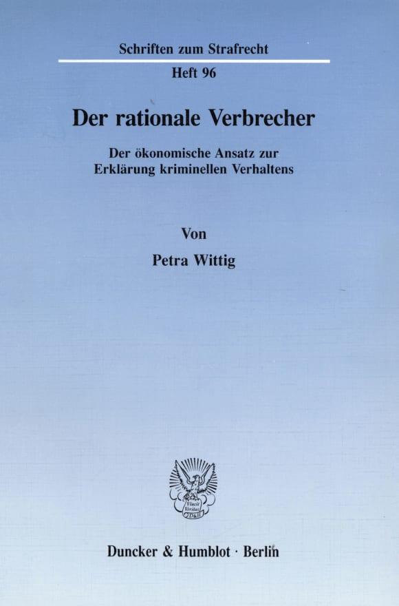Cover Der rationale Verbrecher