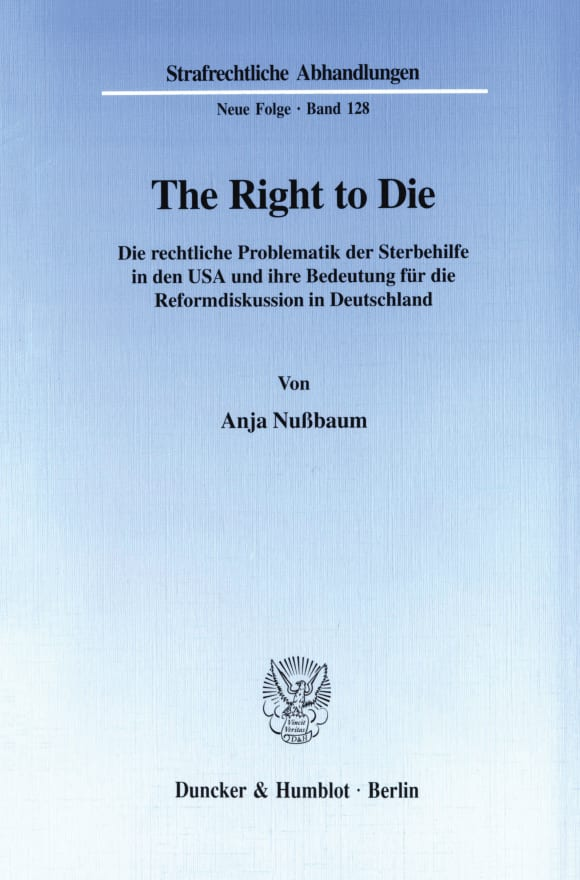 Cover The Right to Die