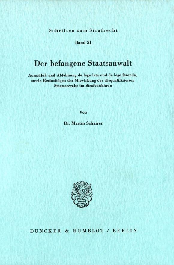 Cover Der befangene Staatsanwalt