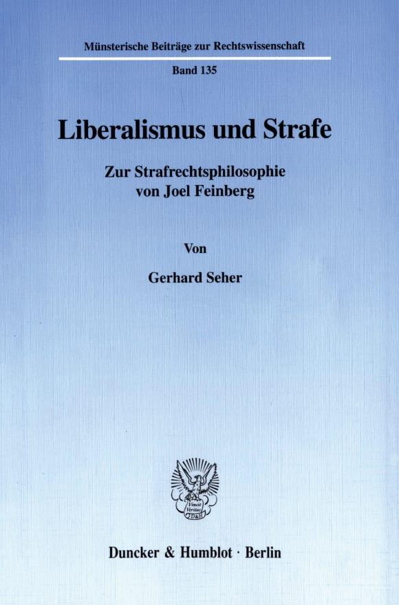 Cover Liberalismus und Strafe