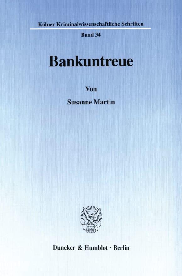 Cover Bankuntreue