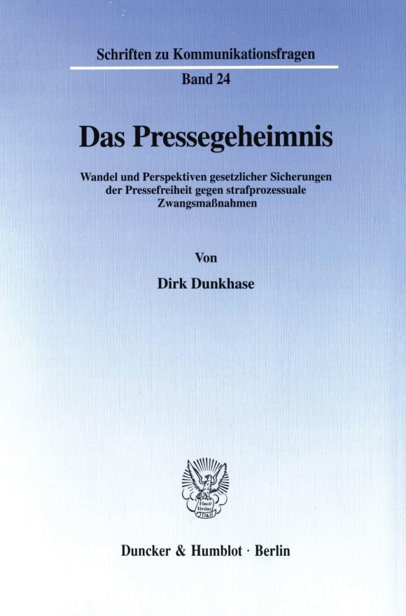 Cover Das Pressegeheimnis