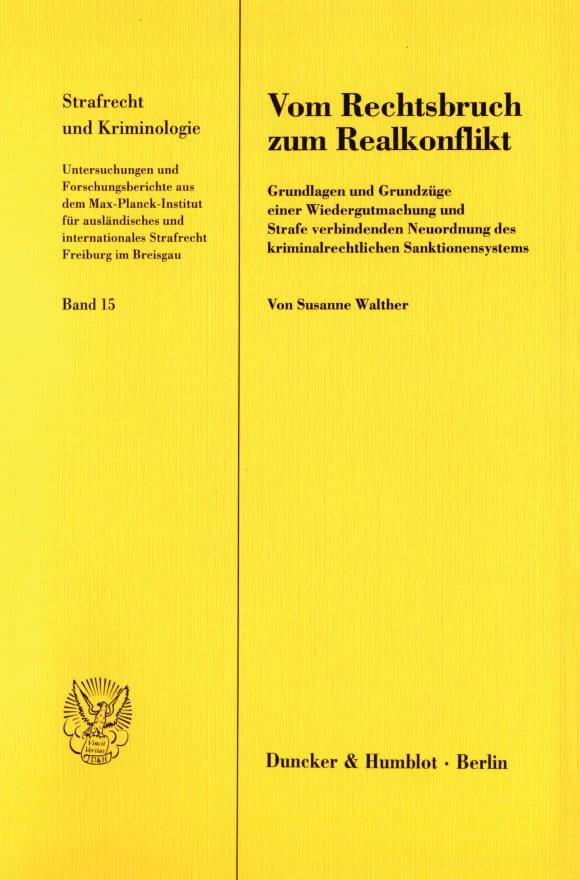 Cover Vom Rechtsbruch zum Realkonflikt
