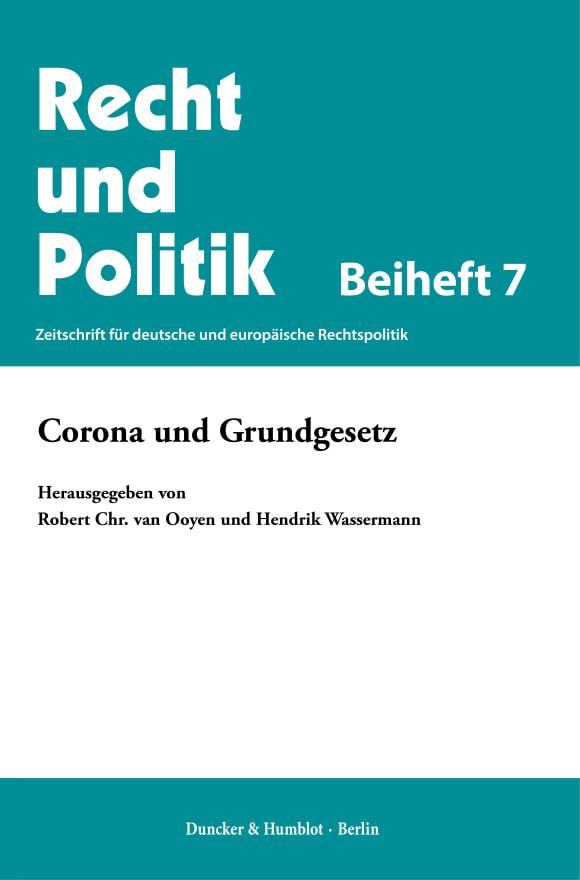 Cover Corona und Grundgesetz