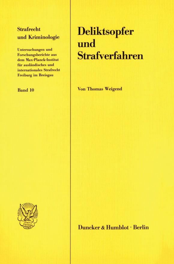 Cover Deliktsopfer und Strafverfahren