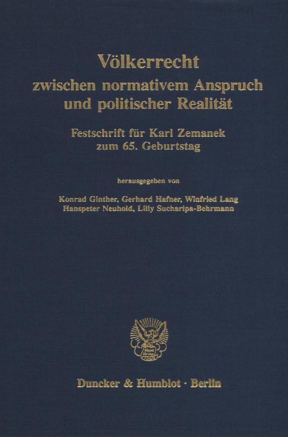 Cover Völkerrecht zwischen normativem Anspruch und politischer Realität