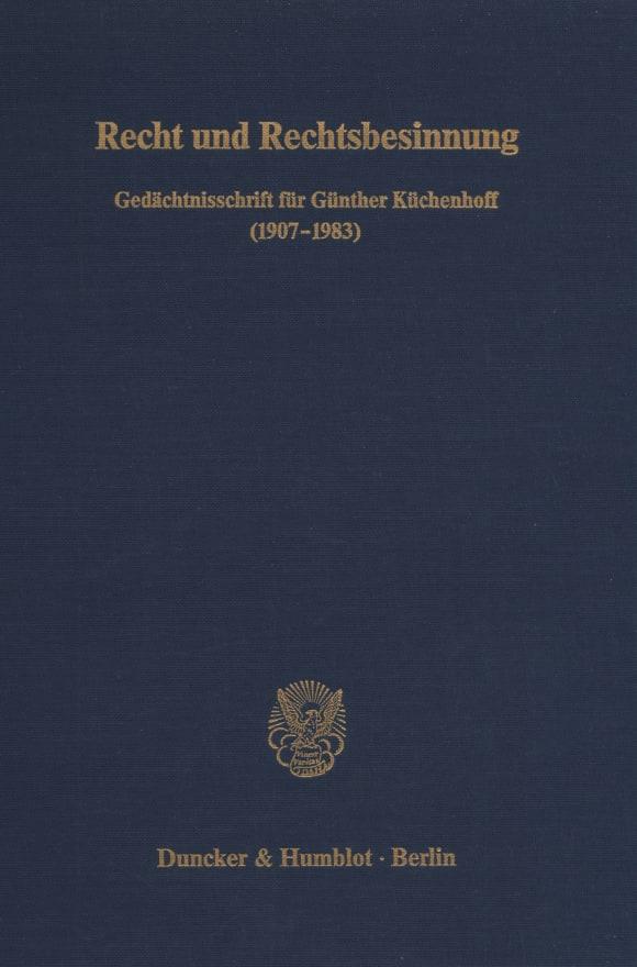 Cover Recht und Rechtsbesinnung