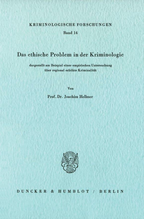 Cover Kriminologische Forschungen (KF)