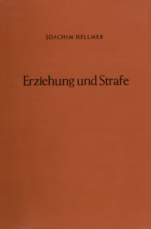 Cover Erziehung und Strafe
