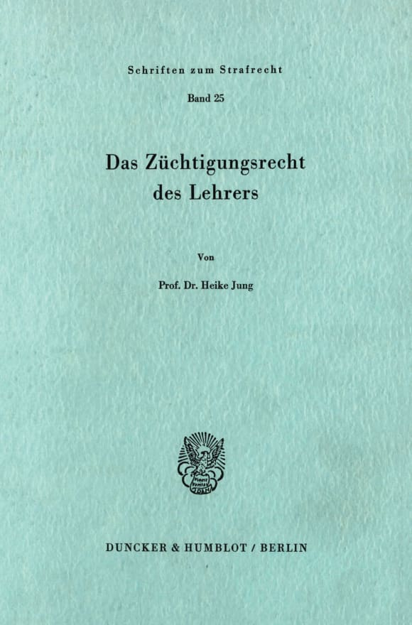Cover Das Züchtigungsrecht des Lehrers
