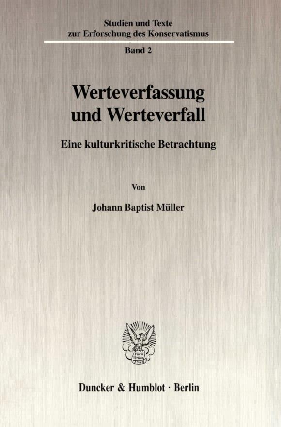 Cover Werteverfassung und Werteverfall