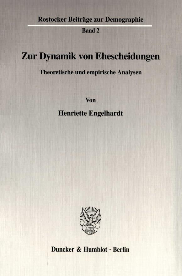 Cover Zur Dynamik von Ehescheidungen