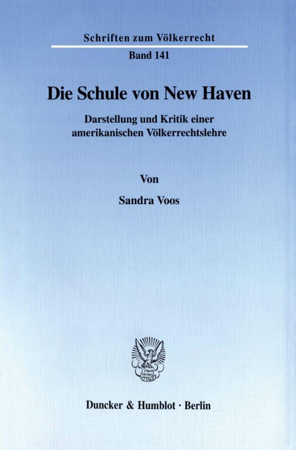 Cover Die Schule von New Haven