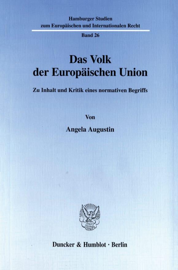 Cover Das Volk der Europäischen Union