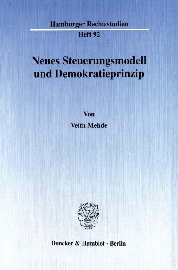 Cover Neues Steuerungsmodell und Demokratieprinzip