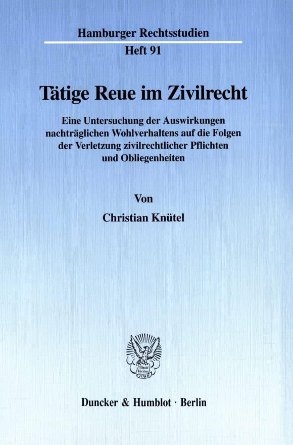 Cover Tätige Reue im Zivilrecht
