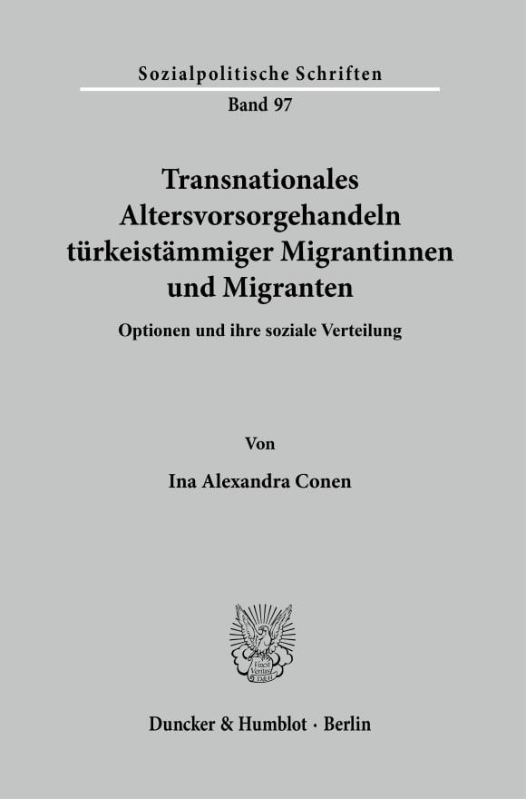Cover Transnationales Altersvorsorgehandeln türkeistämmiger Migrantinnen und Migranten