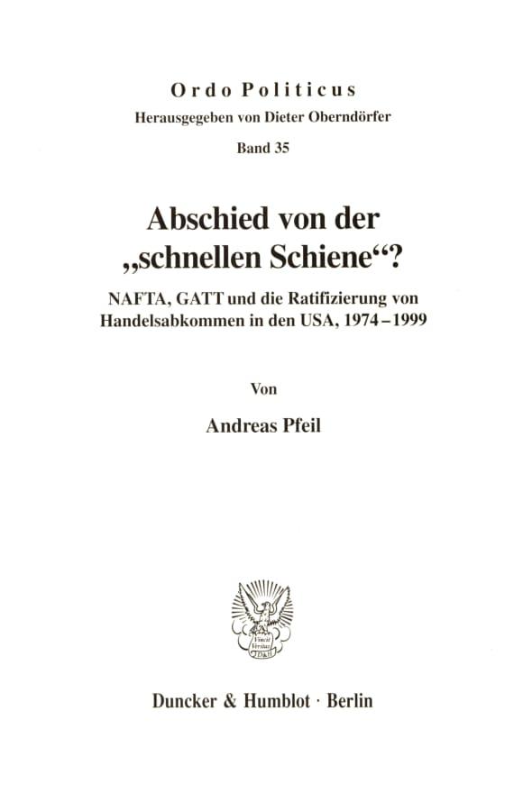 Cover Abschied von der