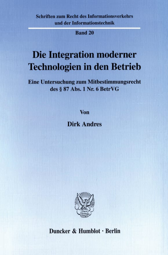 Cover Die Integration moderner Technologien in den Betrieb