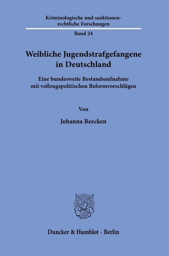 Cover Weibliche Jugendstrafgefangene in Deutschland