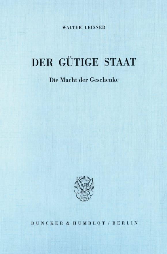 Cover Der gütige Staat