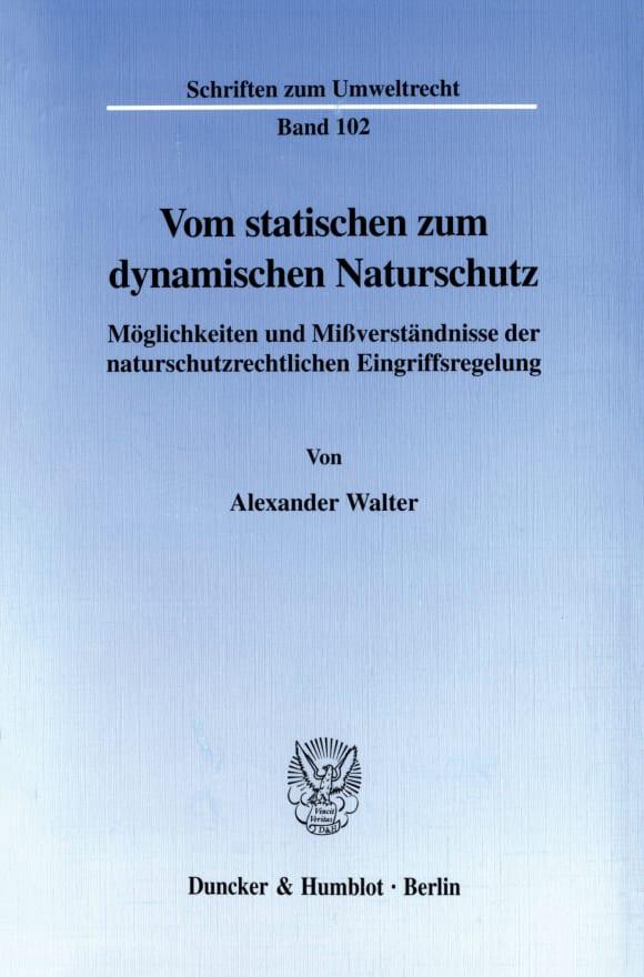 Cover Vom statischen zum dynamischen Naturschutz