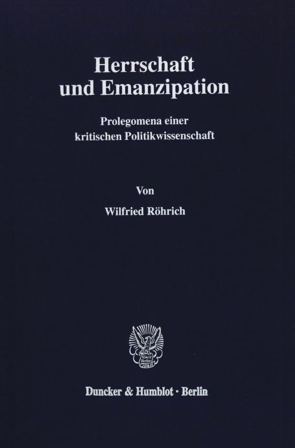 Cover Herrschaft und Emanzipation