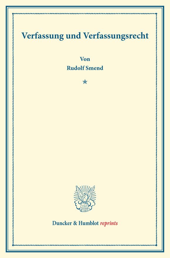 Cover Verfassung und Verfassungsrecht