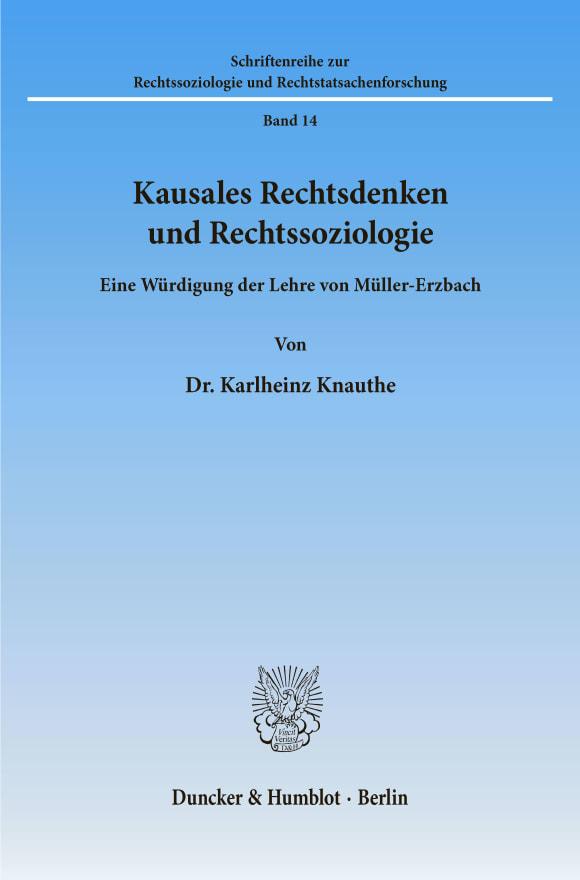 Cover Kausales Rechtsdenken und Rechtssoziologie