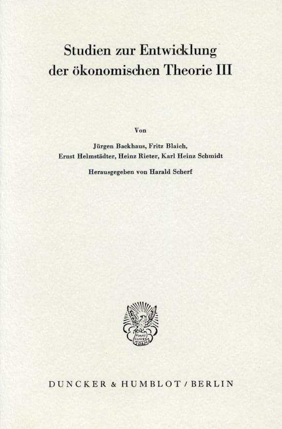 Cover Bedeutung und Fortwirkung der Physiokraten