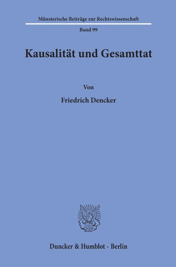 Cover Kausalität und Gesamttat
