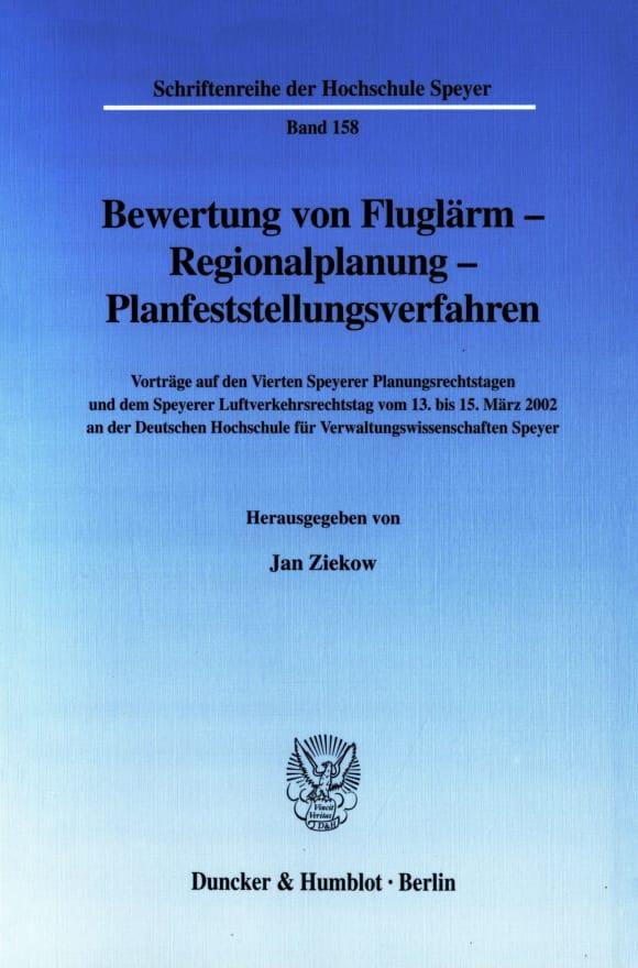 Cover Bewertung von Fluglärm - Regionalplanung - Planfeststellungsverfahren
