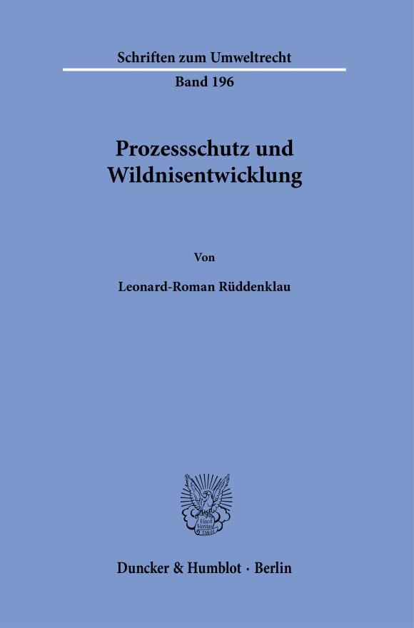 Cover Prozessschutz und Wildnisentwicklung