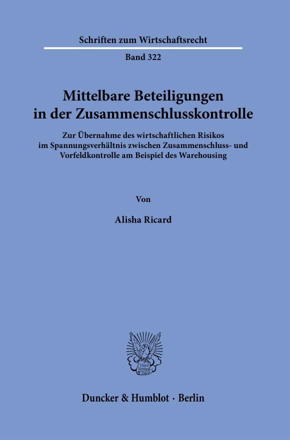Cover Mittelbare Beteiligungen in der Zusammenschlusskontrolle