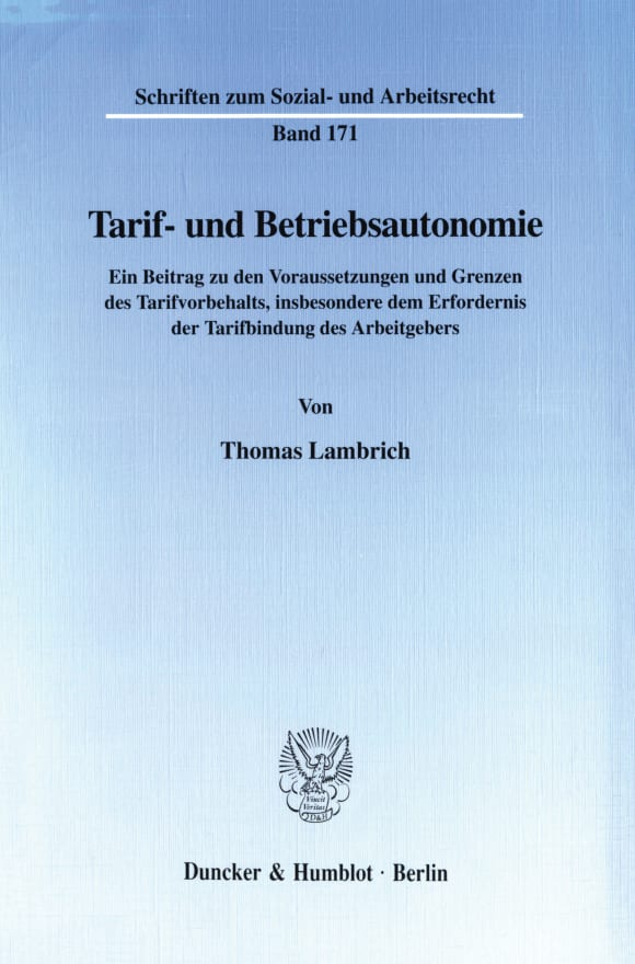 Cover Tarif- und Betriebsautonomie