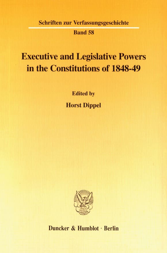 Cover Executive and Legislative Powers in the Constitutions of 1848-49