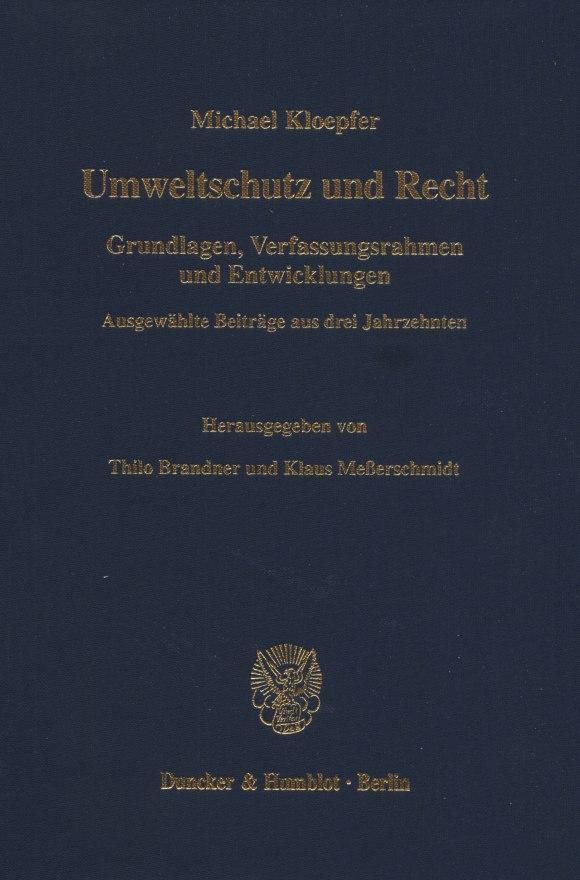 Cover Umweltschutz und Recht