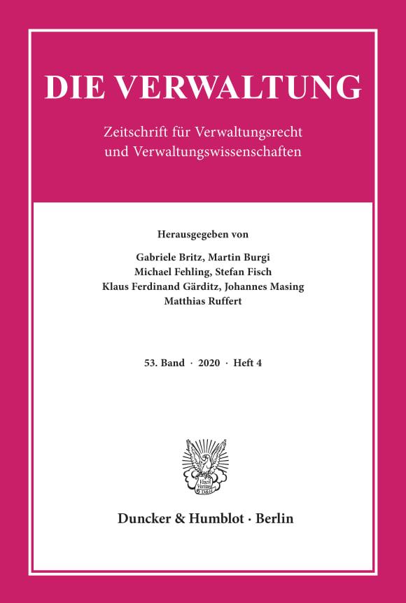 Cover VERW 4/2020