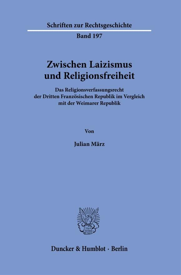Cover Zwischen Laizismus und Religionsfreiheit