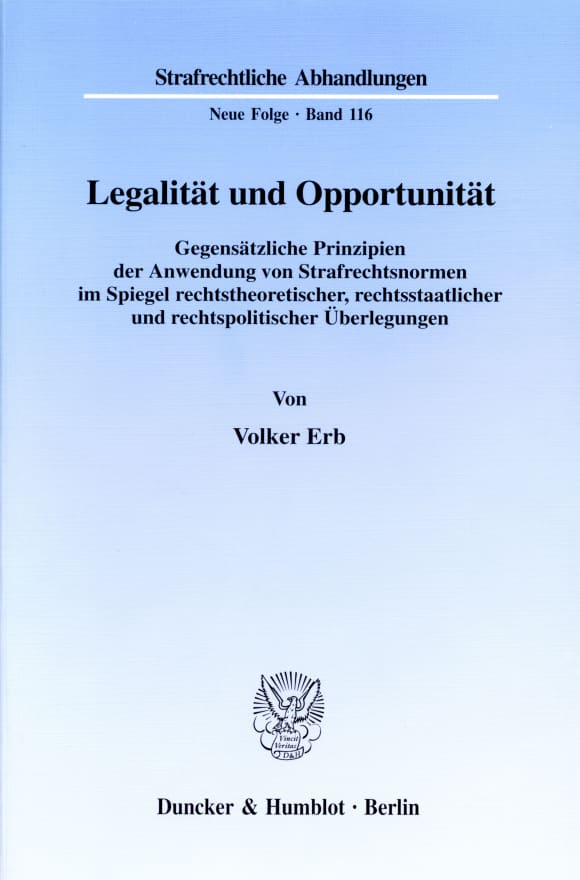 Cover Legalität und Opportunität