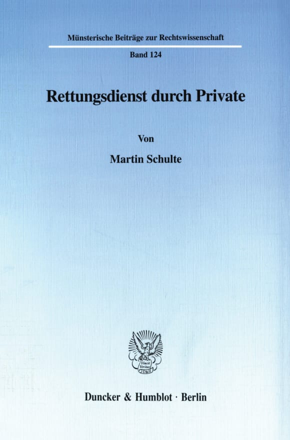 Cover Rettungsdienst durch Private