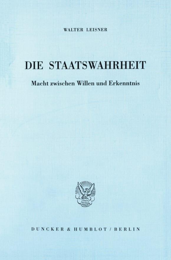 Cover Die Staatswahrheit